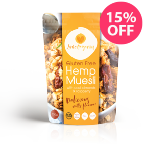 Love Organics Gluten Free Hemp Muesli with Acai and Almonds 350g