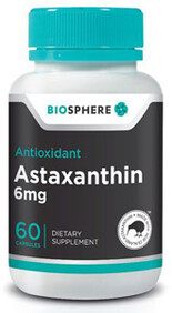 Astaxanthin 60 6mg capsules (NZ made)