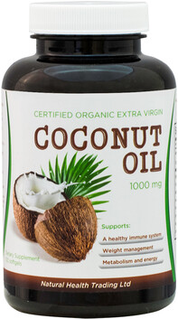Certified Organic Extra Virgin Coconut Oil 1000mg 60SG