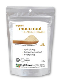 Matakana Organic Maca Root Gelatinised Powder 250gm pouch