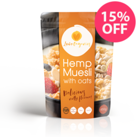 Love Organics Hemp Muesli With Oats 450g