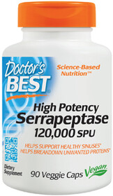 Dr's Best High Potency Serrapeptase 120,000 SPU 90vc
